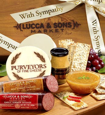 Lucca  Sons  Sausage  Cheese Sympathy Gift Box