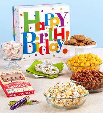 The Popcorn Factory Big Birthday Sampler Box