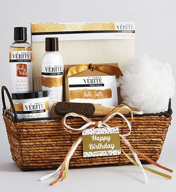 Happy Birthday! Vanilla Bliss Relaxing Spa Basket