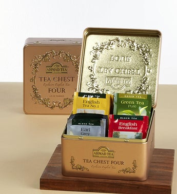 Ahmad of London Tea Chest Four Tin