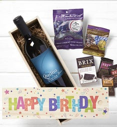 Happy Birthday Wine & Chocolates Crate