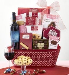 True Love Valentine Wine Gift Basket