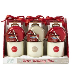Retro Tin Chocolate & Treats Gifts - Set of 3