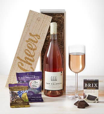 Cheers Ros of Pinot Noir Wine  Chocolates Crate
