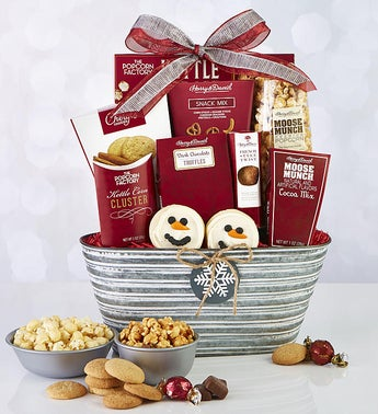 Sparkling Snow Sweets  Treats Basket