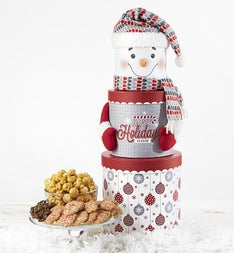 Snowman Keepsake Tower with Treats