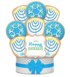 Happy Hanukkah Cookie Arrangement