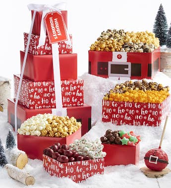 The Popcorn Factory Santa Belt 5 Tier Tower