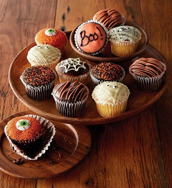 Halloween Belgian Chocolate Dipped Cupcakes