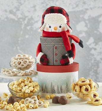 Sweet Treats Snowman Keepsake Tower
