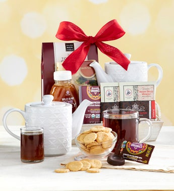 Wintry Warmer Holiday Tea Gift Tray with Teapot
