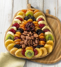 Plentiful Pear Server with Fruits  Nuts