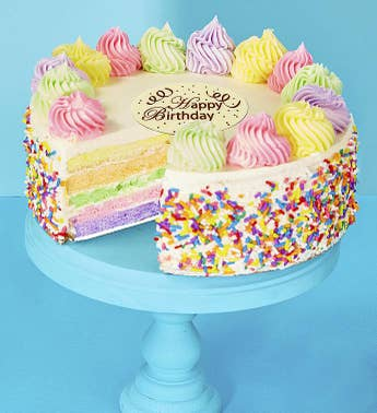 Bake Me a Wish Happy Birthday Rainbow Cake