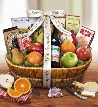 With All Our Love  Sympathy Fresh Fruit Basket