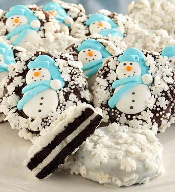 Snowflake Belgian Chocolate Covered Oreo Cookies