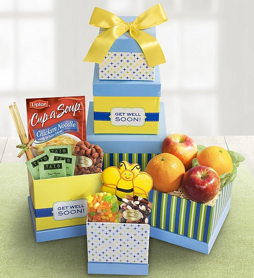 Get Well Wishes Fruit & Sweets Tower
