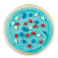 Buttercream Frosted Patriotic Cut-out