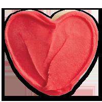 Buttercream Frosted Heart Cutout