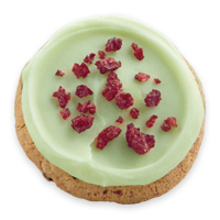 Pistachio Frosted Cranberry Cookie