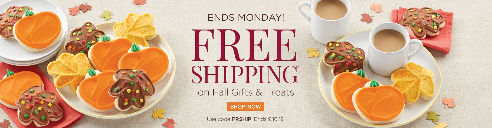 Free Shipping on Fall Gifts