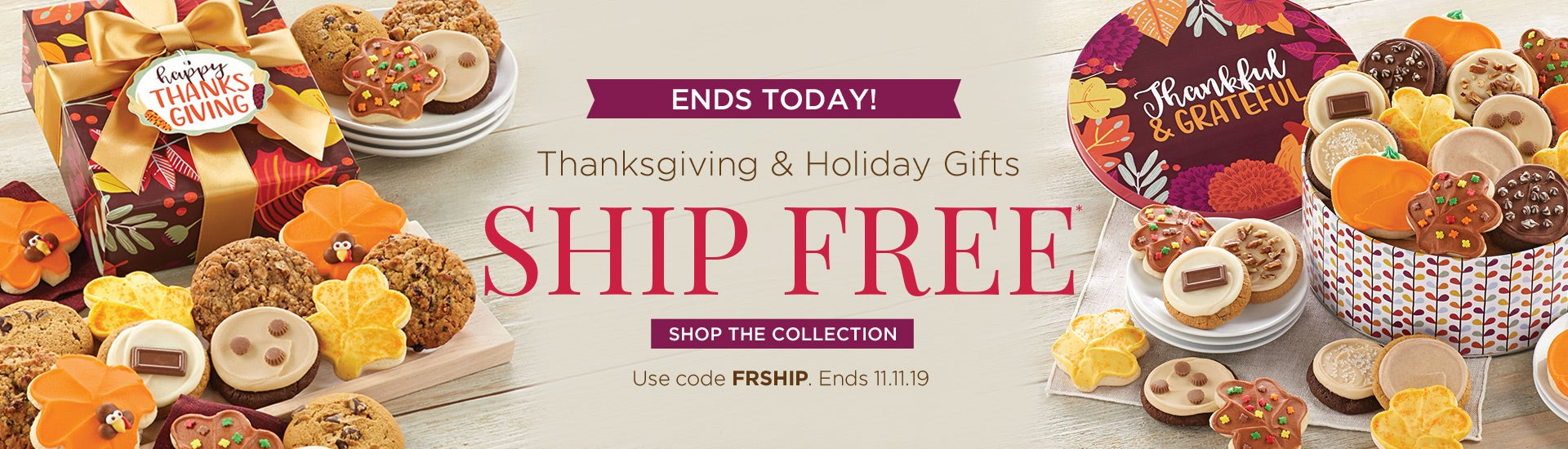 Thanksgiving and Holiday Ships Free