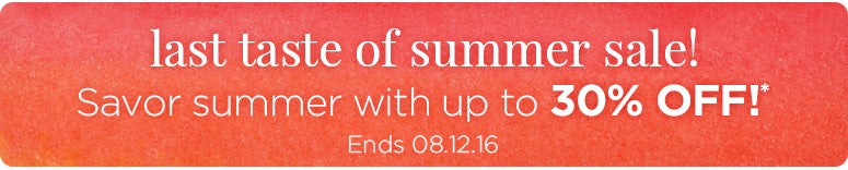 Save up to 30% on our Summer Sale