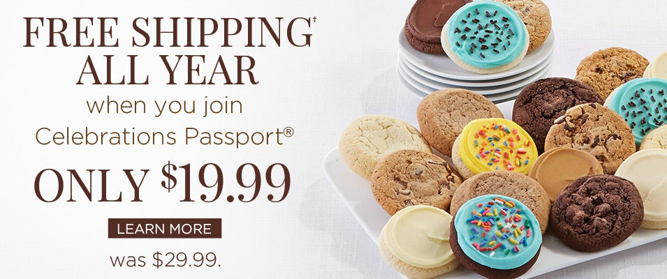 Free Shipping all year when you join Celebrations Passport