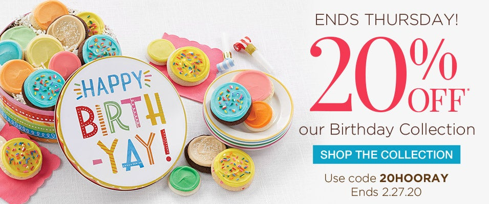 20% off Birthday Gifts