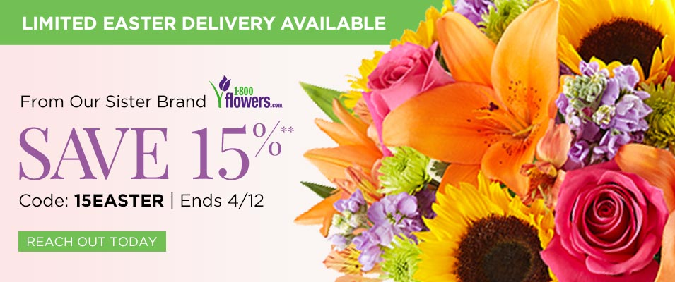 Guaranteed Easter Delivery from 1800Flowers.com