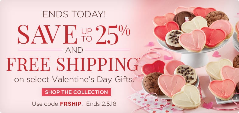 Save Up To 25% + Free Shipping On Select Valentineu0027s Day Gifts