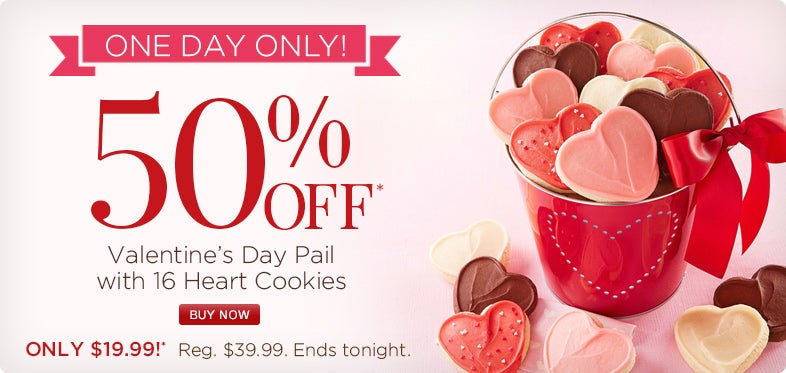 Valentines Day Pail 50% off today only