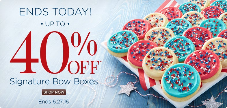 Save up to 40% off Signature Bow Boxes.