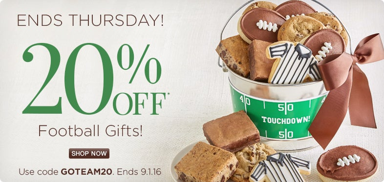 Save 20% off our Football Gifts!