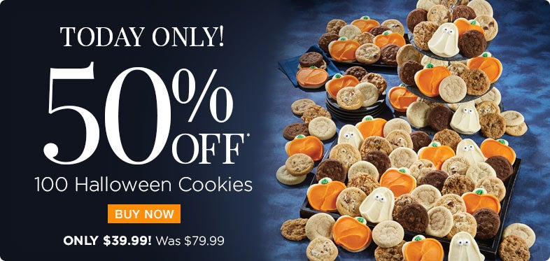 50% off Halloween Cookie Box