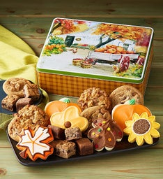 Autumn Gift Tin - Cookies & Snack Size Brownies