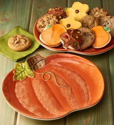 Pumpkin Plate with 12 Cookies