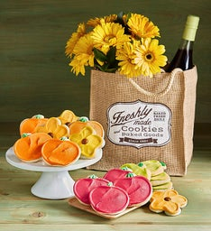 Fall Frosted Cut-out Cookies with Free Tote