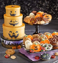Jack O' Lantern Gift Tin Tower