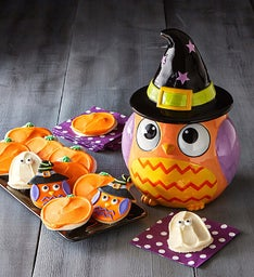 Collector's Edition Owl Witch Cookie Jar