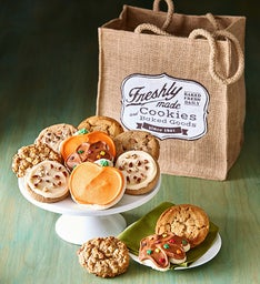 Market Bag of Fall Gourmet Cookies