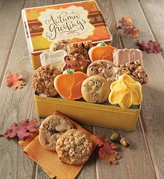 Autumn Gift Tin - Cookies & Brownies