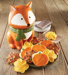 Fall Fox Cookie Jar