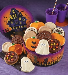 Haunted House Halloween Gift Tin - Frosted