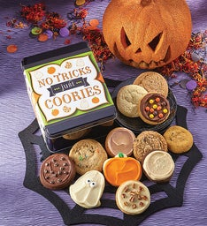 Create Your Own - No Tricks Just Cookies Halloween Gift Tin