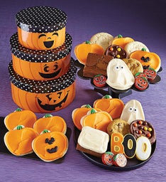 Halloween Jack O' Lantern Gift Tower