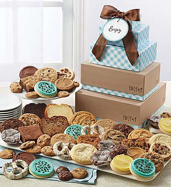 Cheryls Bakery Gift Tower with Message Tag