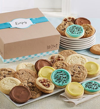 Cheryl's Cookie Gift Boxes with Message Tag - 12 Cookies