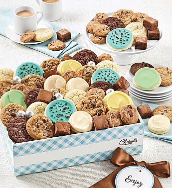 Cheryls Dessert Tray Gift Box with Message tag - Medium