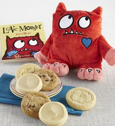 Love Monster Book and Plush Cookie Gift