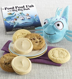 The Pout-Pout Fish in the Big-Big Dark Book and Plush Cookie Gift